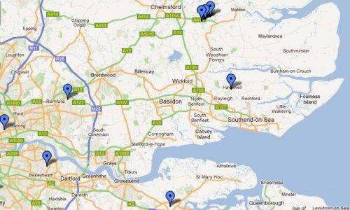 Map of Amateur Radio Repeaters in Essex