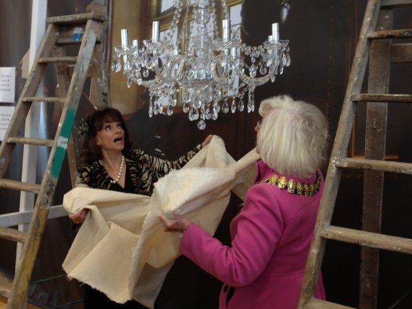 Marlene (a.k.a Sue Holderness) with Southend Mayor Sally Carr