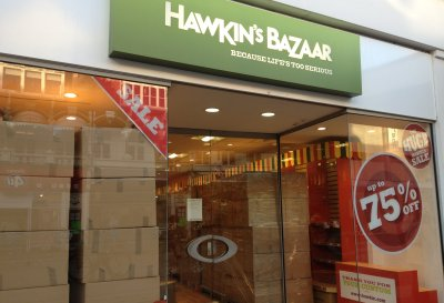 Site of Hawkins Bazaar, Southend January 2012