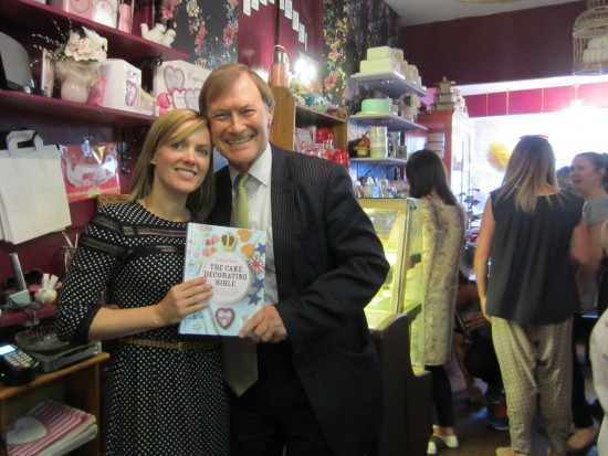 Juliet Sear with MP David Amess