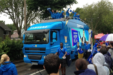Torch Procession sponsored by Samsung