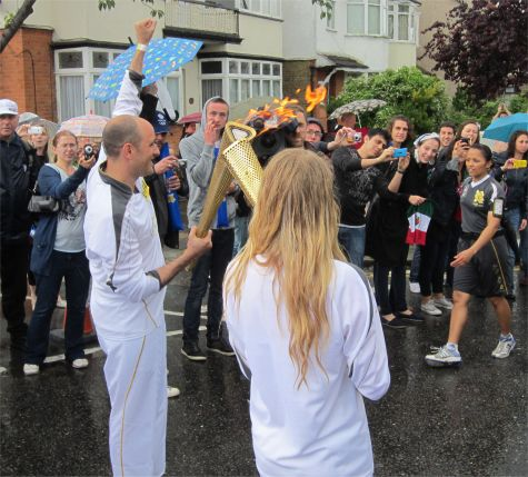 The flame kiss in Leigh-on-Sea