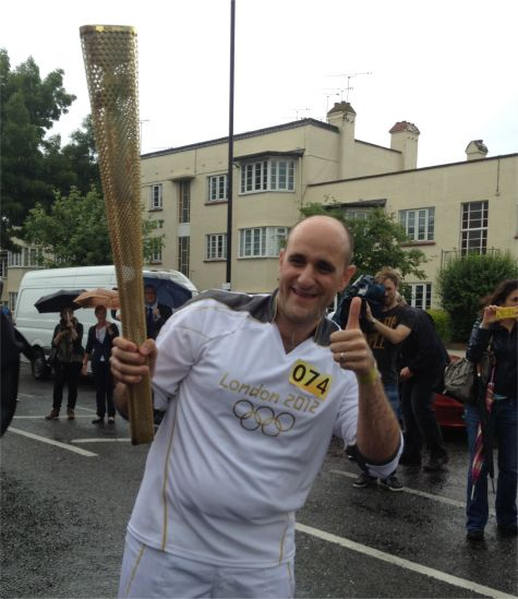 Olympic Torchbearer in Leigh-on-Sea