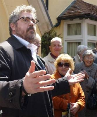 Prittle Priory, being re-opened by Phil Jupitus