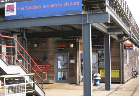 The RNLI Gift Shop on the end of Southend Pier