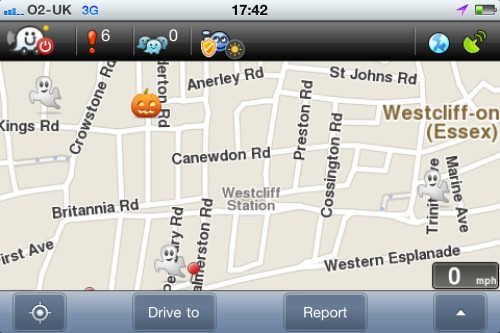 Waze in Southend