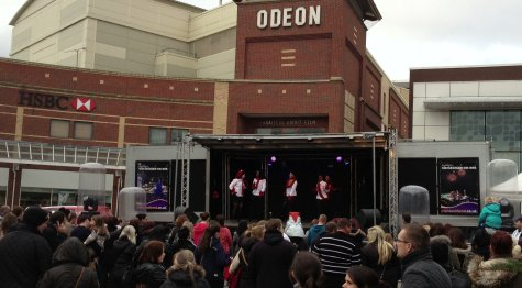 Stage entertainment at the top of Southend High Street