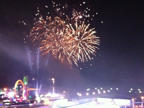 Fireworks at Southend Pier
