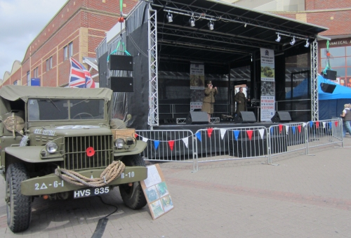 The stage for Armed Forces Day in Southend - 29 June 2013