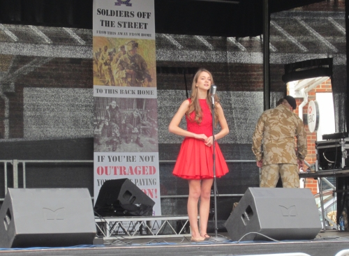 Marilena Gant performing for Armed Forces Day - June 2013