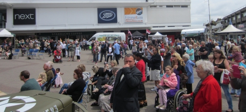 Crowds on Southend High Street for Armed Forces Day 2013