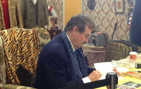 John Challis (Boycie) working hard at the exhibition