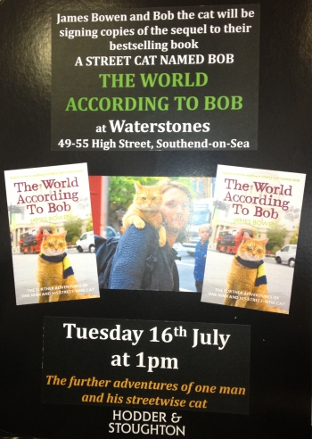 Meet James Bowen and Street Cat Bob in Southend