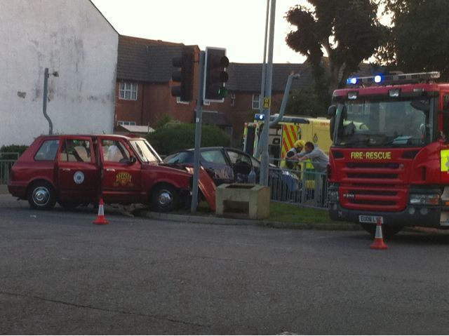 Westcliff-on-Sea accident Southbourne Grove 14 Aug 2010