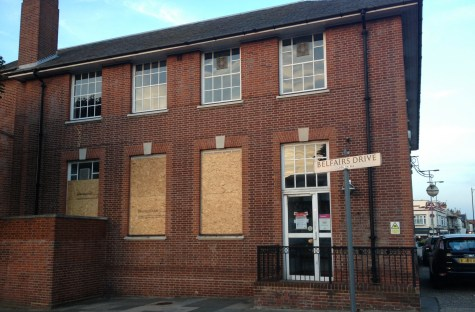 Doors closed at Royal Mail Sorting Office, Leigh-on-Sea