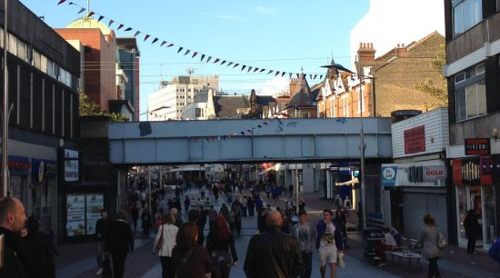 The old Southend High Street Bridge - In 2012