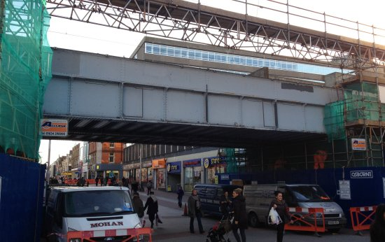 Southend High Street Bridge - Ready to be removed