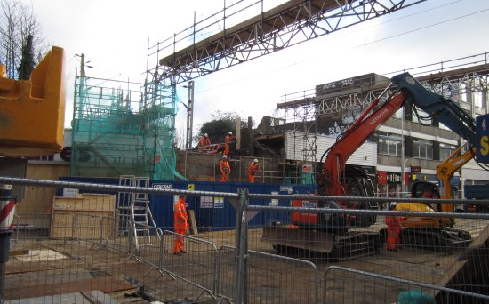 Southend High Street Bridge gone (view 1)