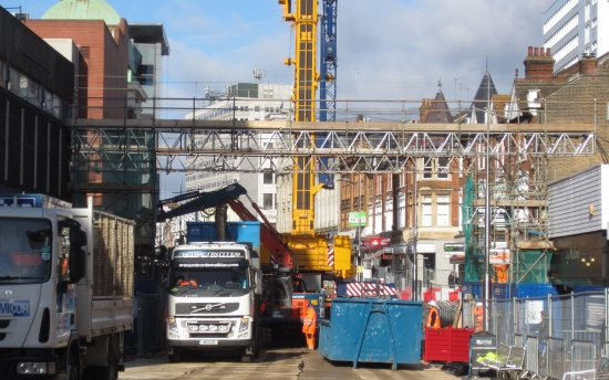 Southend High Street Bridge gone (view 3)